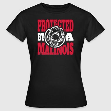 Protected by a MALINOIS - Belgian Malinois - Frauen T-Shirt
