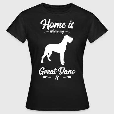 Great Dane - Dog - T-skjorte for kvinner