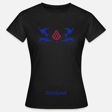 Flower Of Scotland Thistle Pride of Scotland 2 colour vector - Women's T-Shirt