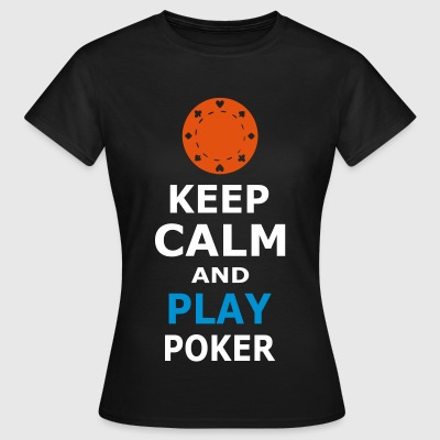 KEEP CALM og spille poker - Dame-T-shirt