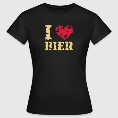 I Love Bier - Frauen T-Shirt