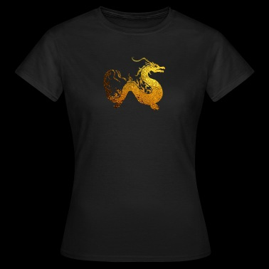 goldener Drache - Frauen T-Shirt