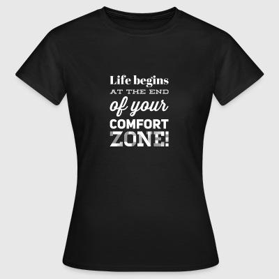 Comfort zone white - Women's T-Shirt