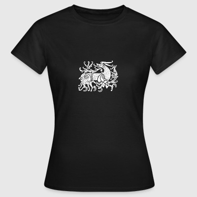 Fenriswolf, mythical Wolf of the Vikings - Women's T-Shirt