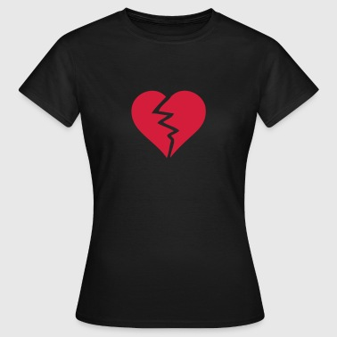 coeur love brise casse2 break heart - T-shirt Femme