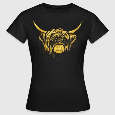 Golden Highland Cow - Women's T-Shirt