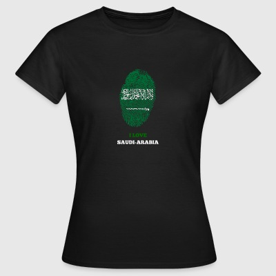 SAUDI-ARABIË FINGERPRINT T-SHIRT - Vrouwen T-shirt