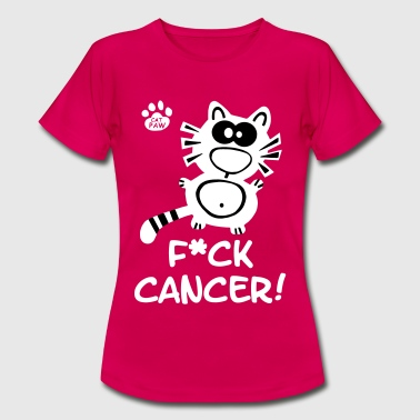 Catpaw Design Krebs Brustkrebs Fuck Cancer Katze - Vrouwen T-shirt