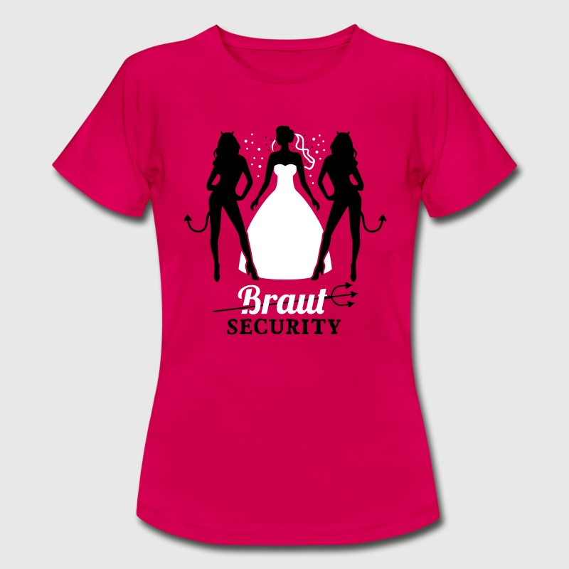 JGA - Braut security - Braut - Team - Teufel 2C - Frauen T-Shirt