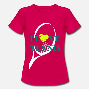 Tennis I LOVE TENNIS - Frauen T-Shirt