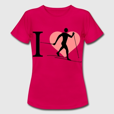 I love cross-country skiing - Women's T-Shirt