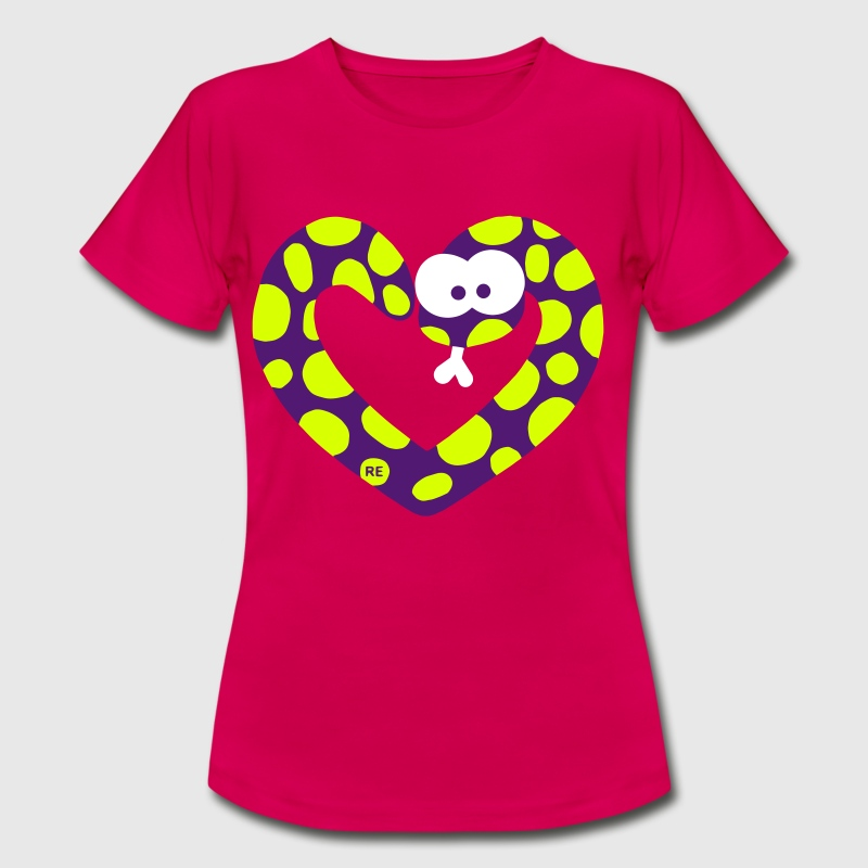 Snake Heart Love - Women's T-Shirt
