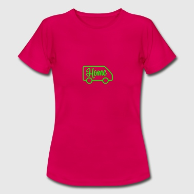 Van Home in a van - Autonaut.com - Women's T-Shirt