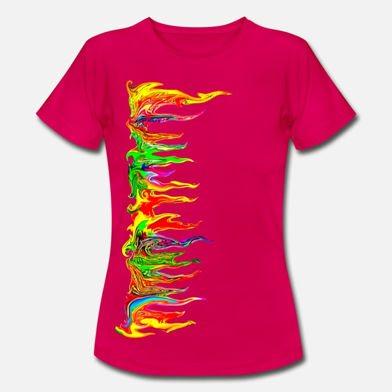 Festival T-Shirts - Color your life! colour, music, holi festival, goa - Women's T-Shirt ruby red