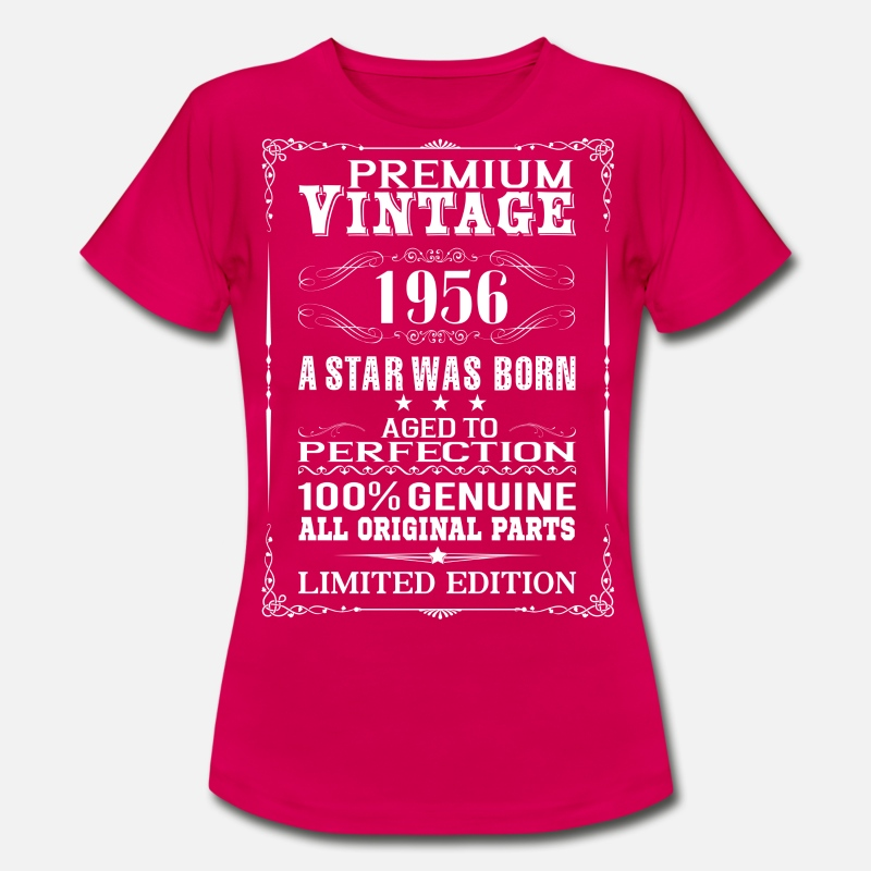 Funny T-Shirts - PREMIUM VINTAGE 1956 - Women's T-Shirt ruby red