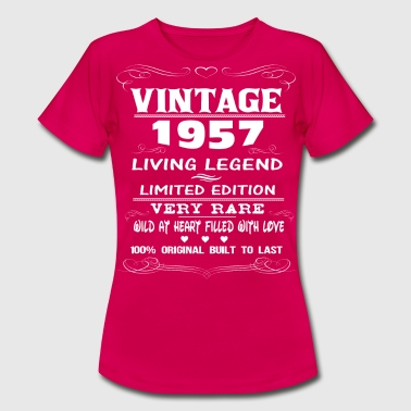 59th Birthday Gift Vintage 1957 VINTAGE 1957-LIVING LEGEND - Women's T-Shirt