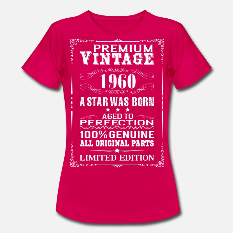 1960 T-Shirts - PREMIUM VINTAGE 1960 - Women's T-Shirt ruby red