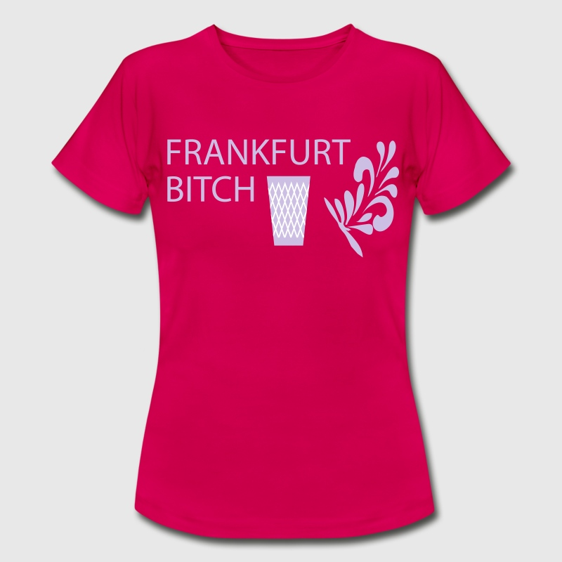 Frankfurt Bitch Geripptes - Frauen T-Shirt