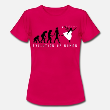Evolution of woman Elf-01 - Frauen T-Shirt