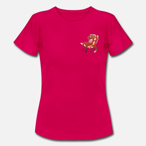 Tomar el sol Fox (sin sol) Camiseta mujer  518e420d644