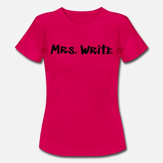 Feather T-Shirts - Mrs. Write - Women's T-Shirt ruby red