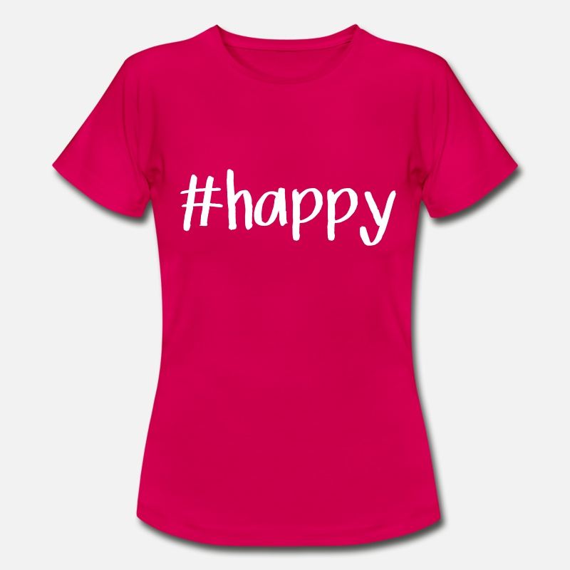 Happy T-Shirts - happy - Women's T-Shirt ruby red