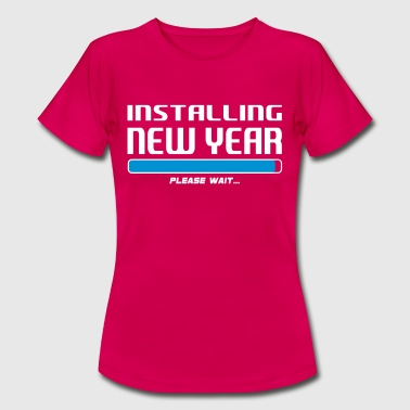 installing new year - Dame-T-shirt