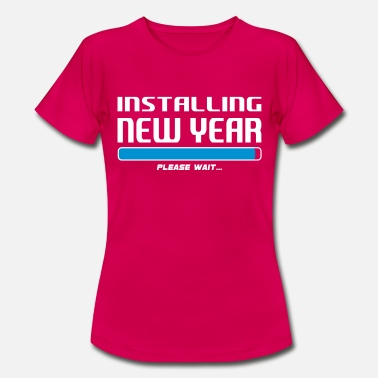 Loading Artist installing new year - Women's T-Shirt