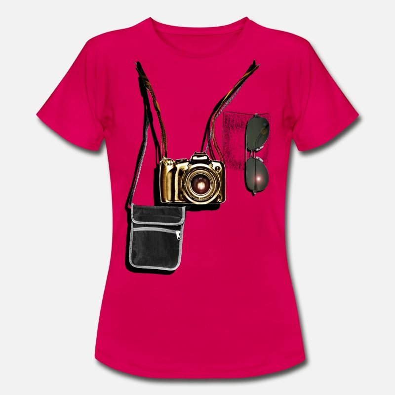 Touriste T-shirts - Professional tourist - T-shirt Femme rouge rubis