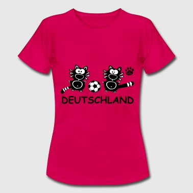 Catpaw Cat Cats Comic Deutschland Germany Fun  - Dame-T-shirt