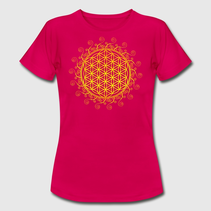 FLOWER OF LIFE, SPIRITUAL SYMBOL, SACRED GEOMETRY - Women's T-Shirt