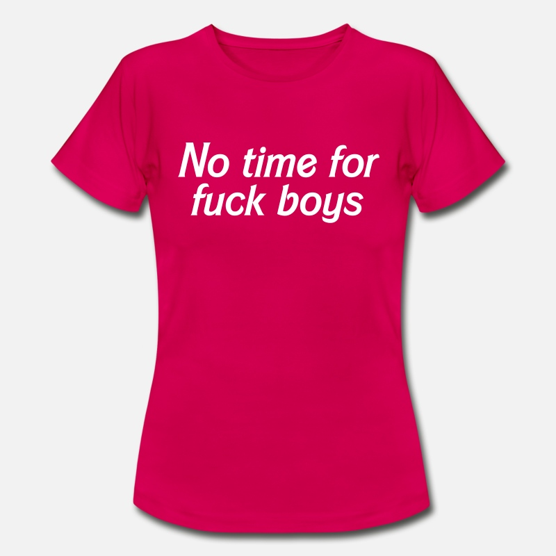 Boy T-Shirts - No time for fuckboys - Women's T-Shirt ruby red