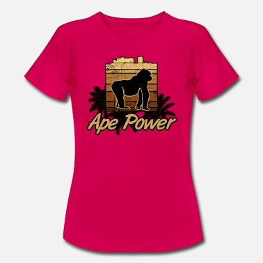 Ape-strong Ape Power Gorilla Monkey Force Strong - Women's T-Shirt