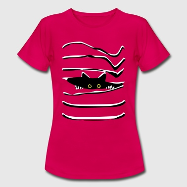 Black Pussy Pussy - Women's T-Shirt