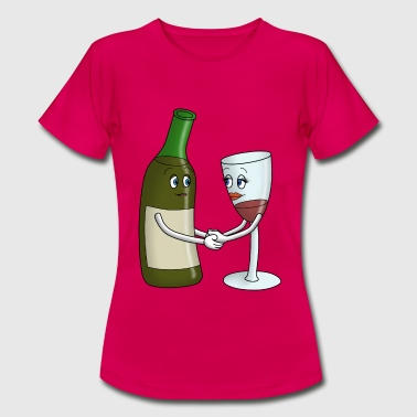 Bottle and Glass - Women's T-Shirt