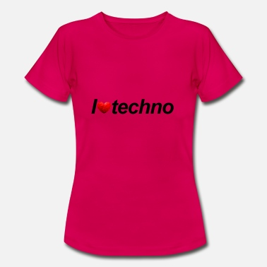 I Love Techno I love techno - Frauen T-Shirt