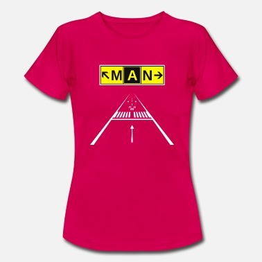 Ryanair MAN Manchester Airport Taxiway Sign & Runway 23R - Women's T-Shirt