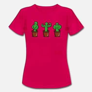 Funny Kids cactus with muscles - Women's T-Shirt