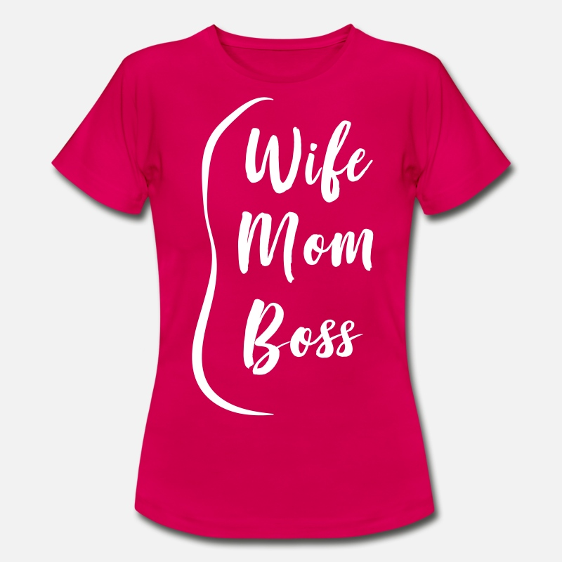Attitude T-Shirts - Wife Mom Boss - Women's T-Shirt ruby red