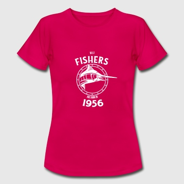 Born 1956 Present for fishers born in 1956 - Women's T-Shirt