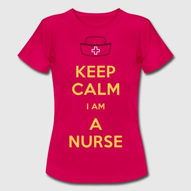 keep calm nurse - Dame-T-shirt