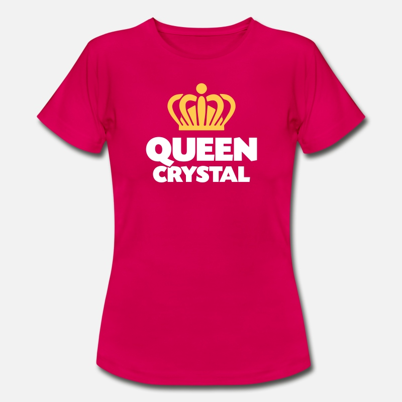 T-Shirts - Queen crystal name thing crown - Women's T-Shirt ruby red