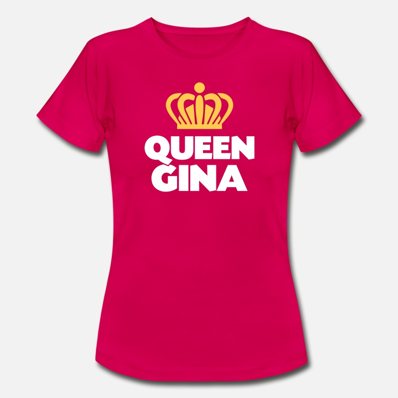 Gina T-Shirts - Queen gina name thing crown - Women's T-Shirt ruby red