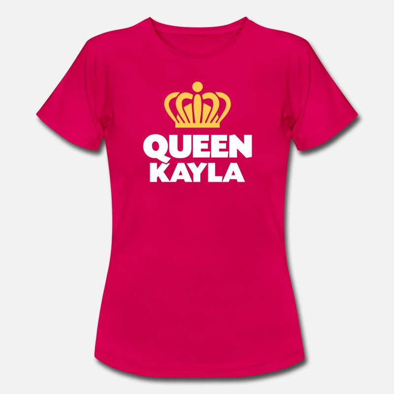T-Shirts - Queen kayla name thing crown - Women's T-Shirt ruby red