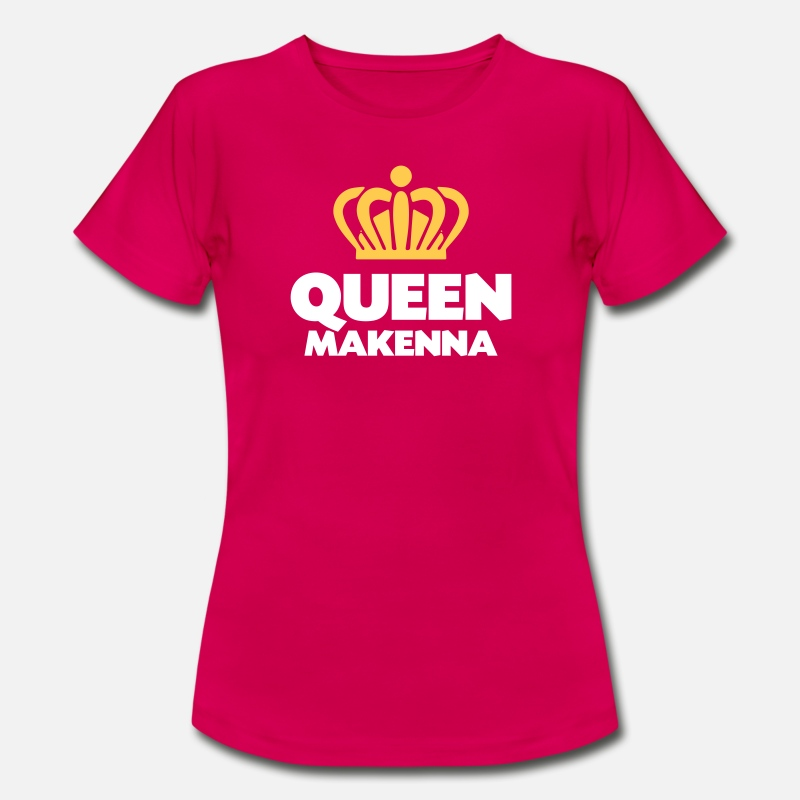 T-Shirts - Queen makenna name thing crown - Women's T-Shirt ruby red