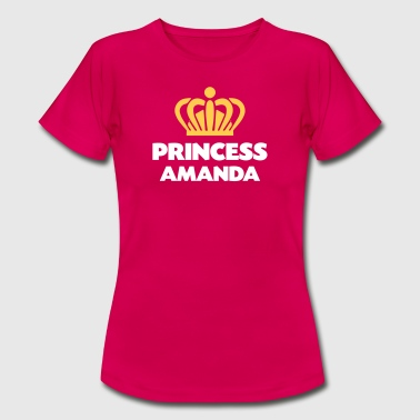 Princess amanda name thing crown - Women's T-Shirt