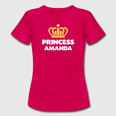 Name Amanda Princess amanda name thing crown - Women's T-Shirt