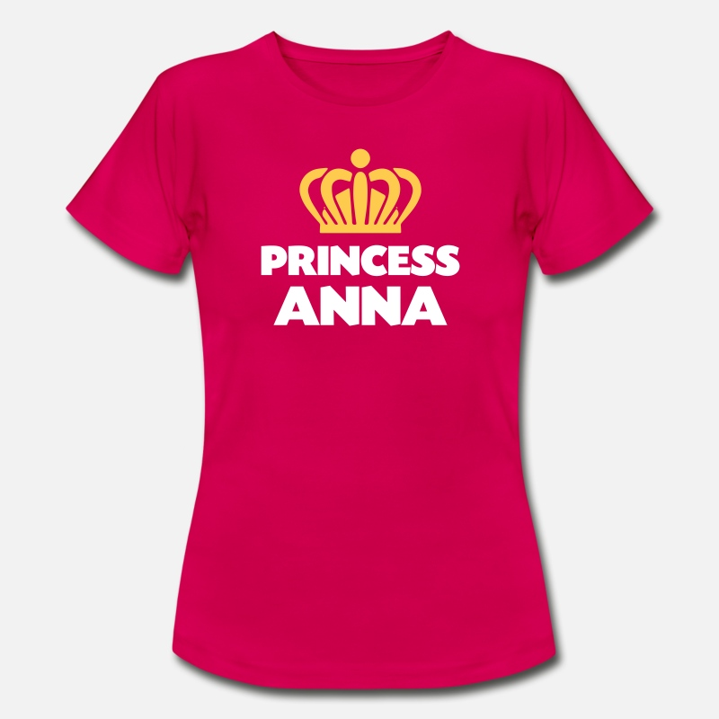 T-Shirts - Princess anna name thing crown - Women's T-Shirt ruby red