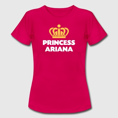 Princess ariana name thing crown - Women's T-Shirt