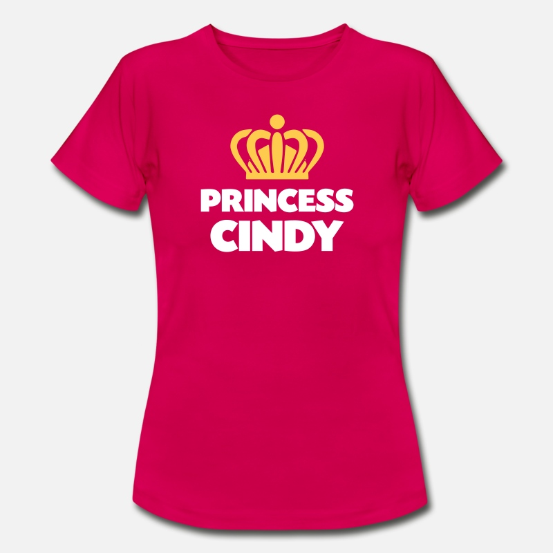 T-Shirts - Princess cindy name thing crown - Women's T-Shirt ruby red